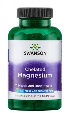 Swanson, albion chelat magnezu, 90 kapsułek