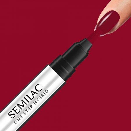 Semilac One Step Hybrid, lakier hybrydowy w markerze, 3ml, S575 Dark Red