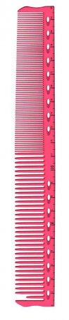 Y.S. Park, grzebień do włosów z linijką, model G45, różowy