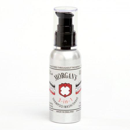 Morgan's, 3 in 1, 3 w 1 - szampon, żel pod prysznic, pianka do golenia, 100ml