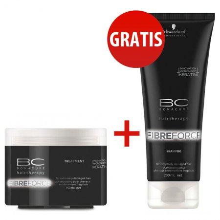 Schwarzkopf BC Fibre Force, szampon + maska do włosów zniszczonych, 2 za 1