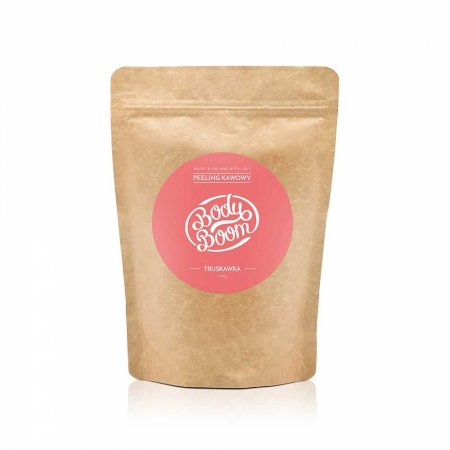 BodyBoom, peeling kawowy do ciała, Zmysłowa Truskawka, 30g
