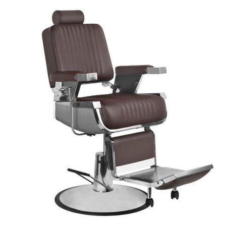 Fotel barberski Gabbiano Royal, brązowy