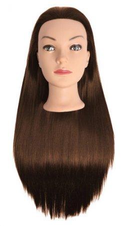 Efalock, główka treningowa Emotion Lexa, włosy syntetyczne, brązowe, 60cm