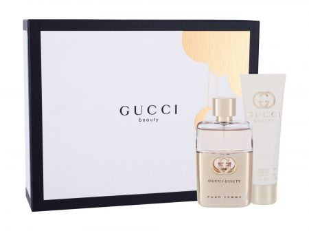 Gucci Guilty, zestaw: Edp 50 ml + Mleczko do ciała 50 ml (W)