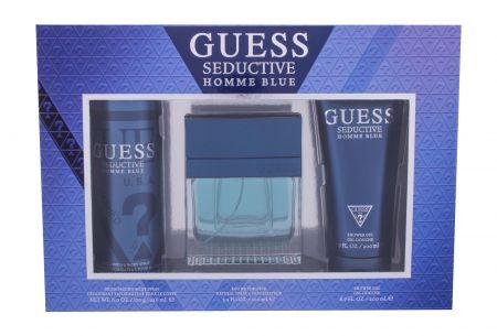GUESS Seductive Homme Blue, zestaw: Edt 100 ml + Żel pod prysznic 200 ml + Dezodorant 226 ml (M)