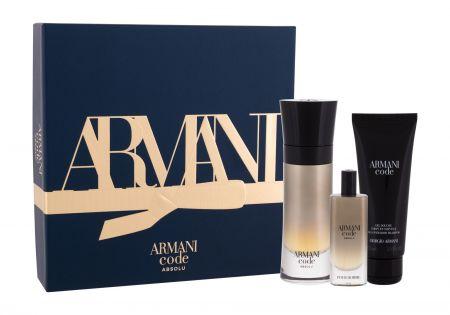 Giorgio Armani Code Absolu, zestaw: EDP 60 ml + Żel pod prysznic 75 ml + EDP 15 ml (M)