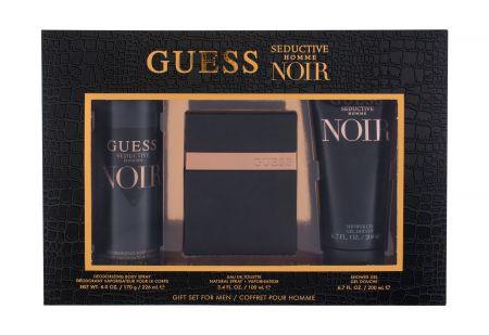 Guess Seductive Homme Noir, zestaw: Edt 100 ml + Żel pod prysznic 100 ml + Dezodorant 226 ml (M)