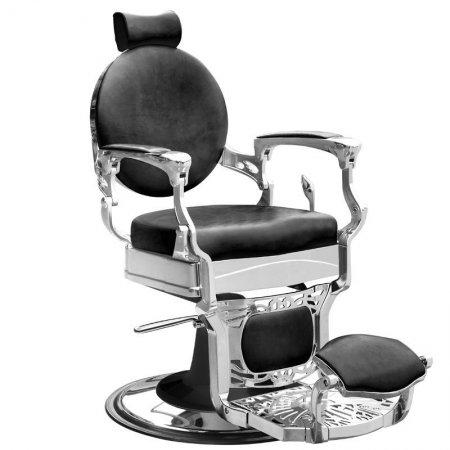 Fotel barberski Gabbiano President, czarny