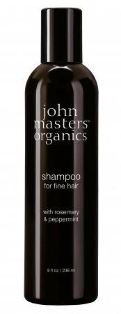 Szampon do włosów cienkich John Masters Organics, Rozmaryn i Mięta, 236 ml - ubytek, lepi się
