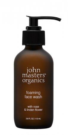 John Masters Organics, żel do mycia twarzy, Róża i Kwiat Lipy, 112ml