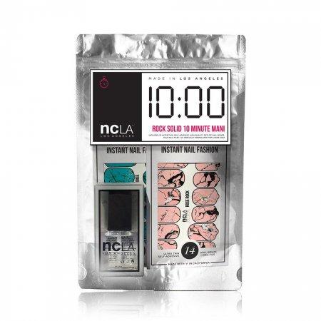 NCLA 10 Minute Rock Solid Mani, zestaw do ekspresowego manicure