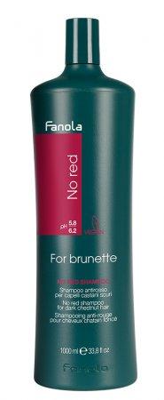 Fanola No Red, szampon do brązowych włosów redukujący czerwone odcienie, 1000ml