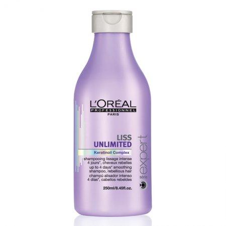 Loreal Liss Unlimited, szampon wygładzający przeciw puszeniu, 250ml