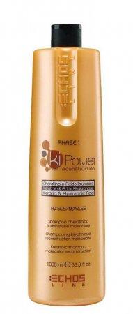Echosline KiPower, szampon z keratyną, 1000ml