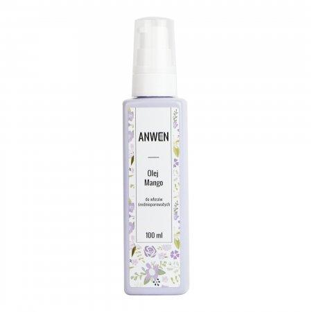 Anwen, olej do włosów średnioporowatych, Mango, 100ml