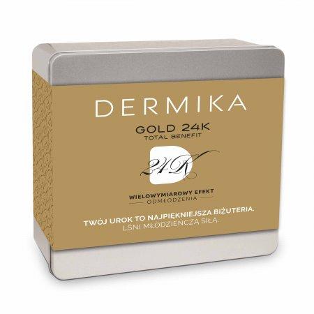 Dermika, zestaw Gold 24K, krem-maska 50ml + płyn micelarny 150ml