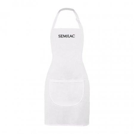 Semilac, fartuszek biały z czarnym logo