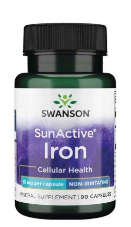 Swanson, Sun Active - żelazo, 90 kapsułek