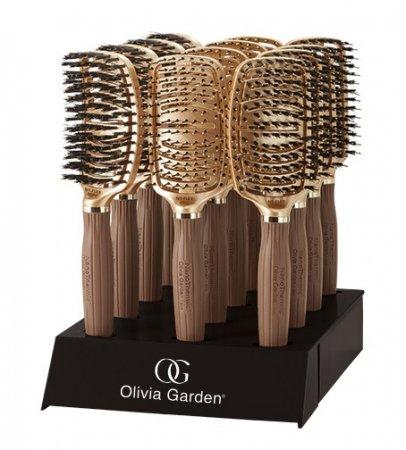 Olivia Garden Nano Thermic Ceramic Ion Flex, zestaw szczotek, 12szt