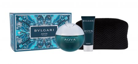 Bvlgari Aqva Pour Homme, zestaw: Edt 100 ml + Balsam po goleniu 100 ml + Kosmetyczka (M)