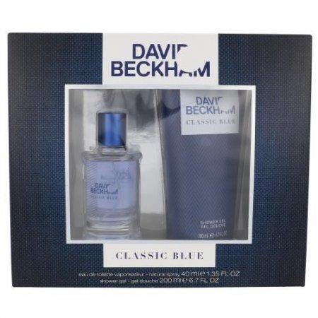 David Beckham Classic Blue, zestaw perfum EDT 40ml+200ml żel pod prysznic (M)