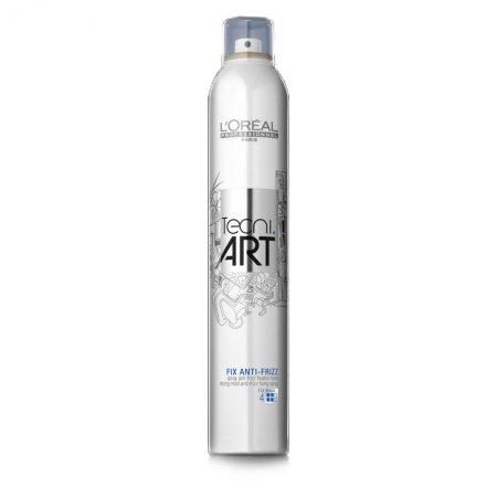 Loreal Tecni Art, Fix Anti-Frizz, spray mocno utrwalający, 400ml