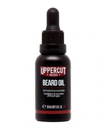 Uppercut Deluxe, Beard Oil, olejek do brody, paczuli i skóra, 30ml