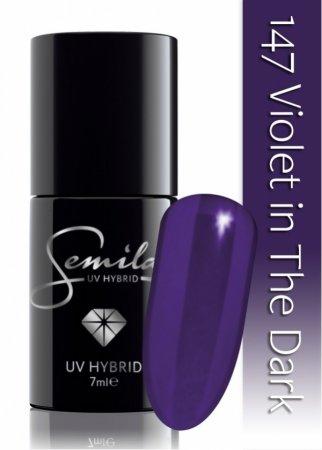 Lakier hybrydowy Semilac, 147 Violet In The Dark 7ml - krótka data ważności (7.2021)