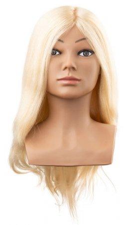 Efalock, główka treningowa Marla, włosy ludzkie, jasny blond, 40cm