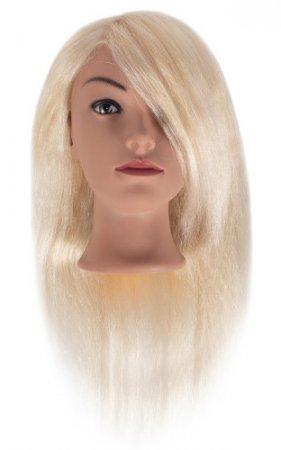 Efalock, główka treningowa Sophia, włosy ludzkie, jasny blond, 40-45cm