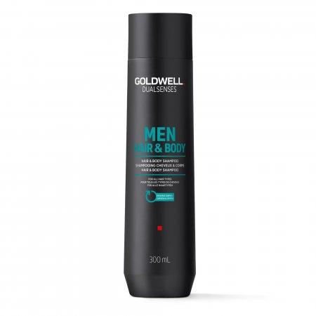 Goldwell Dualsenses For Men, szampon do włosów i ciała, 300ml