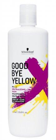 Szampon neutralizujący żółte odcienie Schwarzkopf Goodbye Yellow, 1000ml - zabrudzone opakowanie