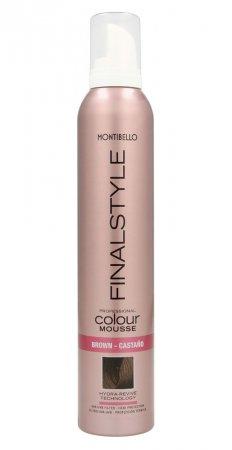 Montibello Finastyle Colour, koloryzująca pianka do włosów, brąz, 320ml