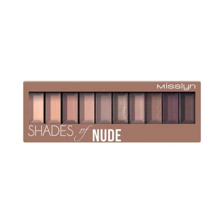 Misslyn, paleta cieni do powiek, Shades of Nude