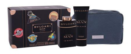 Bvlgari Man In Black, zestaw: Edp 100 ml + Balsam po goleniu 100ml + Kosmetyczka (M)