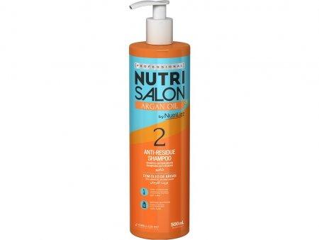 NutriSalon Argan Oil, szampon odbudowujący, krok 2, 500ml