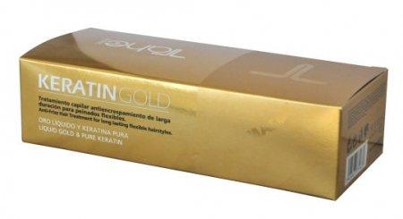 Tahe Botanic Gold Finishing, ampułki do stylizacji włosów z keratyną, 10x10 ml