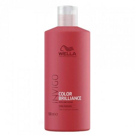 Wella Invigo Color Brilliance, szampon do włosów farbowanych, normalnych i cienkich, 500ml