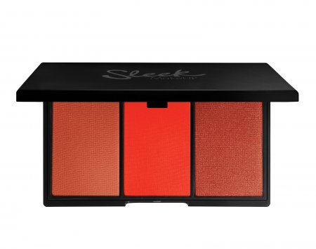 Sleek Makeup Blush By3, paleta róży do policzków Flame, 20g