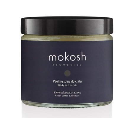 Mokosh, peeling solny do ciała, zielona kawa z tabaką, 300g