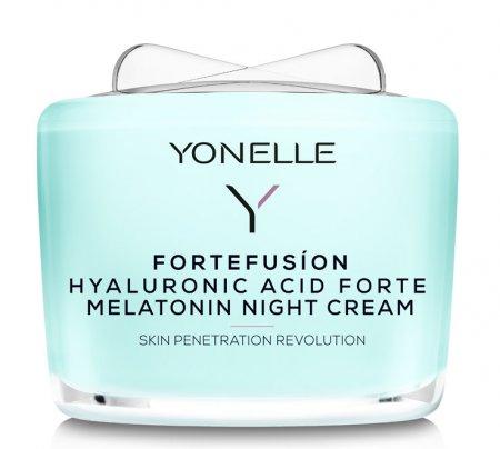 Yonelle Fortefusion, krem na noc z melatoniną i kwasem hialuronowym forte, 55ml