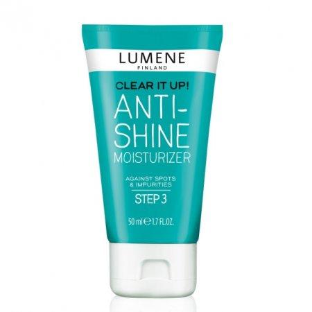 Lumene Clear It Up, nawilżający krem przeciw błyszczeniu skóry, 50ml