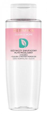 Dermika Clean&More, odżywczy płyn micelarny cykoria + olej z pestek porzeczki, 400ml