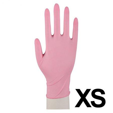Abena, rękawiczki nitrylowe bezpudrowe, rozmiar XS, różowe, 100 sztuk