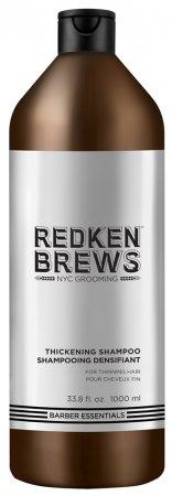 Redken Brews, szampon dla mężczyzn do włosów przerzedzających się i cienkich, 1000ml