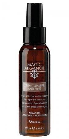 Nook Magic Arganoil, rozświetlający spray przeciw puszeniu, 100ml