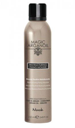 Nook Magic Arganoil, pianka do układania włosów, 250ml