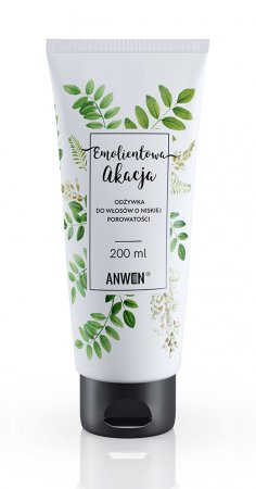 Anwen, odżywka do włosów o niskiej porowatości, Emolientowa Akacja, 200ml
