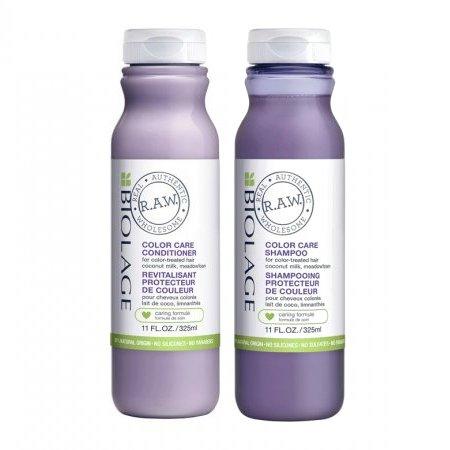 Biolage RAW Color Care, zestaw do włosów farbowanych, szampon 325ml + odżywka 325ml